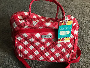 Pioneer Woman Charming Check  Weekender Travel Bag Red Floral And Check New