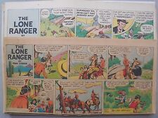 (38) Lone Ranger Sunday Pages by Fran Striker and Charles Flanders from 1944