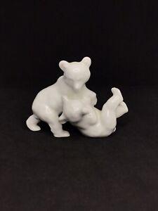 Rosenthal German Porcelain 1955 Very Rare Pure White China Bears