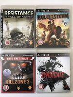 PS3 Game Bundle - Killzone 2 + Syndicate + Bulletstorm + Resistance - (734)
