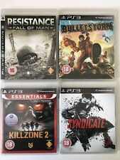 PS3 Game Bundle-Killzone 2+Syndicate+Bulletstorm+Resistance (734)