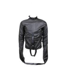 Faux Leather Restraints Backhand Cleavage Straight Bondage Jacket Fetish Cloth