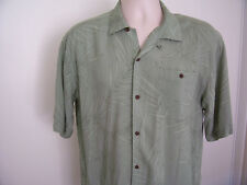 PCI RELAX Wear Green Foliage Print Camp Hawaiian Shirt Men's Size M