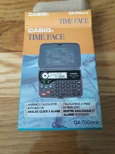 Casio Time Face Calculator Clock. Qa 700