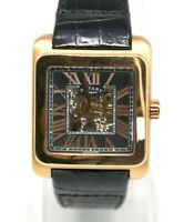 Rotary Editions Men's Automatic 1895 Skeleton Series 700 Watch Rose Gold Leather