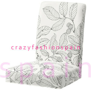 IKEA HENRIKSDAL Chair cover, Vislanda black/white