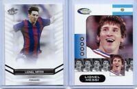 """""""2"""" LIONEL MESSI 2006 WORLD CUP LEAF DRAFT  """"ROOKIE"""" 2 CARD LOT! RARE & MINT!"""
