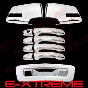 For 2009 2010 2011 Chevy Traverse Mirror+Door+Tailgate Chrome Cover Combo W/Cam