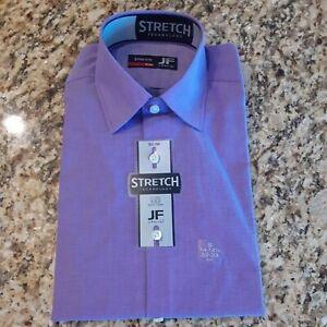 NWT JF J.Ferrar Slim Purple Dress Shirt Stretch Easy Care Multiple Sizes