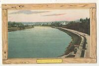 Schuylkill River at PHILADELPHIA PA Vintage Pennsylvania Postcard