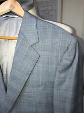 CANALI MEN'S GRAY/BLUE PLAID SUPER 120'S SUIT SZ 40R MADE IN ITALY
