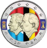 Belgien 2 Euro 2005 Wirtschaftsunion mit Luxemburg Henri und Albert in Farbe