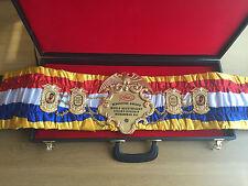 Anillo de Muhammad Ali revista cinturón de boxeo mejor regalo para un hombre-IBF, WBO, WBA
