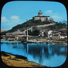 COLOUR Glass Magic Lantern Slide TURIN CAPUCHIN MONASTERY C1890 OLD PHOTO ITALY