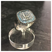Harry Ivens IV Diamantring Silberring blaue Baguette Diamanten 925er Silber Ring