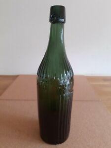 Vintage J. Paterson & Co Ltd  Glasgow Green Glass Bottle
