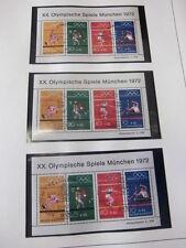 Bund, 52x Block 8, Olympische Spiele 1972, 52 verschiedene Sonderstempel (356)