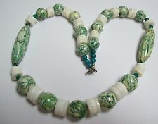 KARLA JORDAN Green & White Chunky Necklace