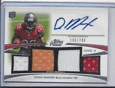 DOUG MARTIN 2012 TOPPS PRIME LEVEL V QUAD 3 COLOR JERSEY AUTO RC #D 100/780