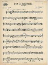 Noten für Orchester * Fest in Schönbrunn - Ouvertüre * August Löhr