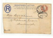 AC30 1902 GB Postal Stationery Superb ROYAL EXCHANGE Manchester Registered Cover