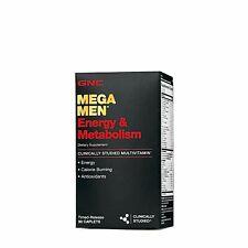 GNC MEGA MEN ENERGY & METABOLISM SUPPLEMENT 90 Ct ENERGY, ANTIOXIDANT EXP: 03/22