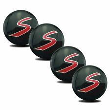 "4pcs 2.2"" S Logo Car Wheel Center Hub Cap Emblem Sticker Badges for Mini S 56mm"