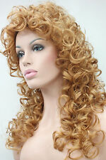 6 Colors Women Spiral Curls fluffy Retro Hair Cosplay Party Curly Wig+Wig Cap