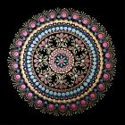 HAND PAINTED MANDALA WALL PICTURE