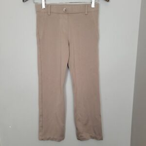 Betabrand Crop Classic Dress Pant Yoga Crop Khaki Twill Petite XS