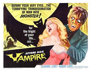 Atom Age Vampire 1960 Alberto Lupo, Susanne Loret,  Horror Sci Fi  Uncut DVD
