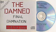 Punk The DAMNED Final Damnation FRENCH PROMO Neat Neat Neat Smash It Up New Rose