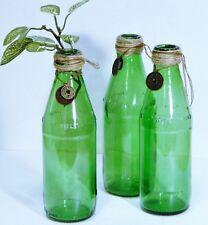 Bottles/Jars/Green Glass/Vases/Display/Embellished/Cottage/Boho/ 3