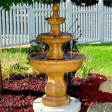 Tropical 3-Tier Garden Outdoor Water Fountain Pond Indoor Sunnydaze New