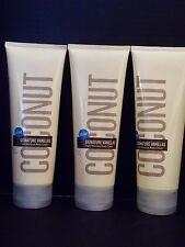 Bath Body Works Signature Vanillas Coconut Body Cream 8 oz/226 g, NEW x 3