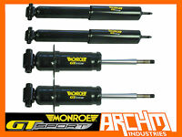 MONROE GT SPORT F&R LOWERED SHORT STRUTS/SHOCKS FOR FORD FALCON BF XR6/XR8 SEDAN