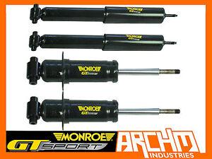 MONROE GT SPORT F&R LOWERED SHORT STRUTS/SHOCKS FOR FORD FALCON BF XR6/XR8 SEDAN