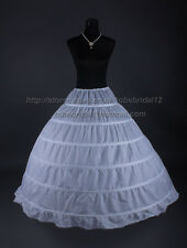 6 Ring HOOP WEDDING BRIDAL PROM PETTICOAT UNDERSKIRT CRINOLINE SLIP Gown S-XXL