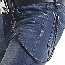 Stylish Faux Leather Punk Biker Keychain Key Jeans Wallet Belt Chain Hip-hop