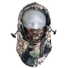 Camo Thermal Fleece Balaclava Hood Swat Winter Ski Windproof Face Masks Hat Caps