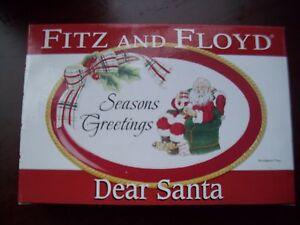FITZ AND FLOYD SENTIMENT TRAY DEAR SANTA