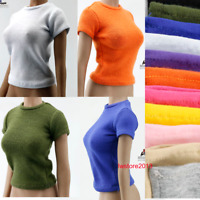 """1:6 Short Sleeve T-shirt Tops Clothes F 12"""" Female TBL PH HT Action Figure Body"""
