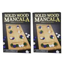 2x Cardinal Classic Solid Wood Folding Mancala Board Game Kids/children Toy 6y