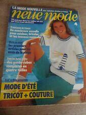 "👗 MAGAZINE VINTAGE ""NEUE MODE GARDE ROBES COMPLETES ELEGANTES AVRIL  1982"