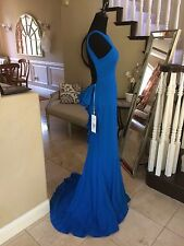 $500 NWT PEACOCK RUFFLE JOVANI PROM/PAGEANT/FORMAL DRESS/GOWN #21899 SIZE 6