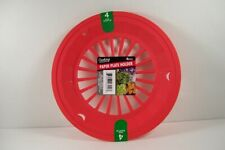 "9"" Paper Plate Holders Red/Mellon Picnic Camping BBQ Patio Set of 4 FREE SHIP"