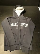 Abercrombie Fitch Girls Zip Up Hoodie Size L; Blue