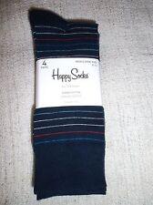 Men's HAPPY SOCKS Combed Cotton casual SOCKS 4 PAIRS NWT