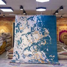 YILONG 8'x10' Handmade Wool Ocean Pattern Handwoven Carpet Indoor Rug P1211