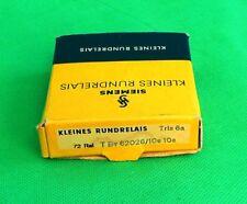 Historisches Siemens Kleines Rundrelais Trls 6a T By 62 26/10e 10e